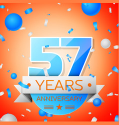 Fifty seven years anniversary celebration vector