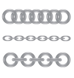 Metal chain vector
