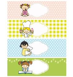 girl stickers vector image