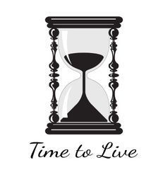 time to live Vintage hourglass vector image