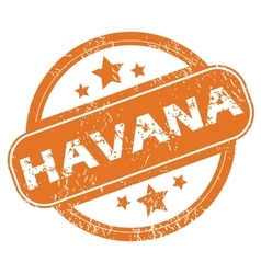 Havana rubber stamp vector