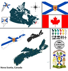 Map of Nova Scotia vector image