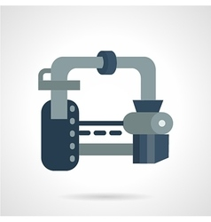 Gas transportation system flat icon vector