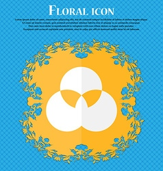 Color scheme icon sign floral flat design on a vector