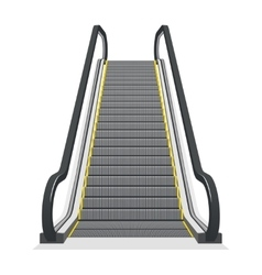 Escalator isolated on white background vector