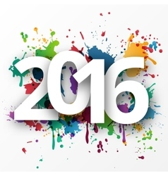 Happy 2015 new year with spray paint vector