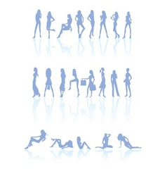 Differen kind of women silhouette vector