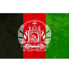 True proportions afghanistan flag with texture vector