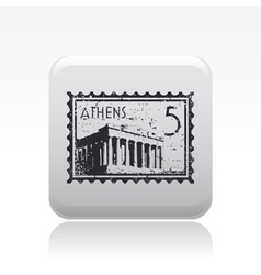 athenian icon vector image vector image