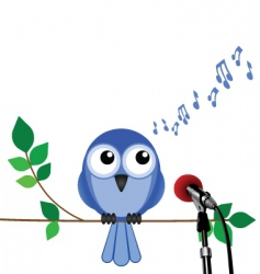 bird song vector image vector image