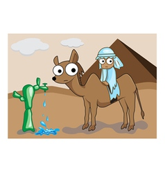 camel cartoon vector image vector image