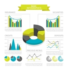 Colored bank infographic vector