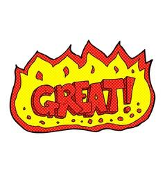 comic cartoon great symbol vector image vector image