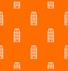 Dutch houses pattern seamless vector