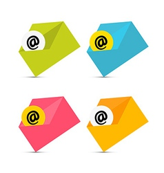 E-mail Email Icons Envelope Icons Set Isolated on vector image vector image