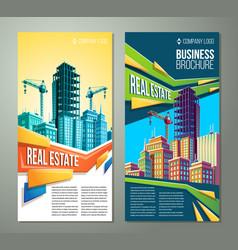 flyer banner urban background vector image vector image