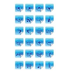 internet icon social media icon set vector image