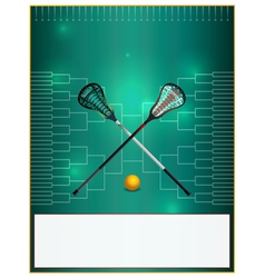 Lacrosse tourney bracket flyer blank vector
