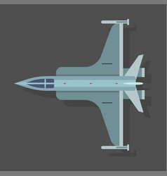 mig airplane plane top view vector image