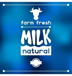 Milk emblem design on abstract mesh background vector