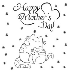 mother day with cat character vector image