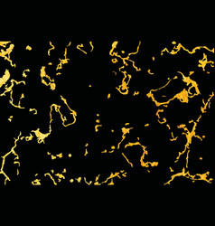 Pattern black and gold marble texture vector