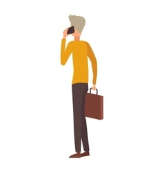People talking phone character vector image
