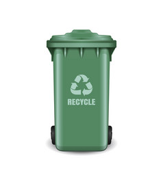 Recycling bin for trash and garbage trash can vector
