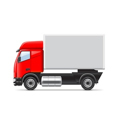 Red and white truck isolated vector image vector image