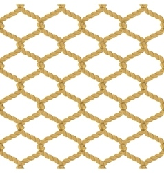 Rope Net Seamless Pattern vector image
