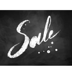 Sale word chalk lettering vector image