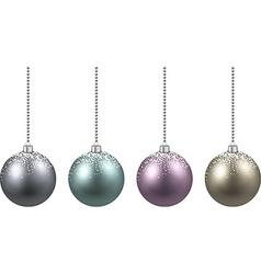Set of realistic christmas balls vector