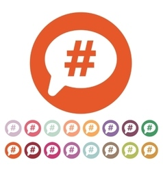 The hashtag icon social network and web vector