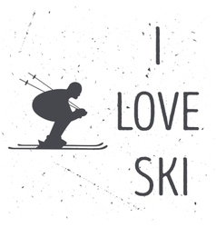 The skiers silhouette vector image vector image