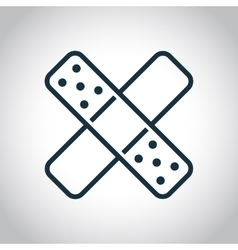 Two cross patches icon vector image vector image