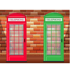 Two telephone booth on street vector