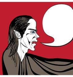 Vampire talk vector