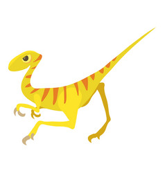 Velociraptor icon cartoon style vector