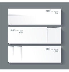 White banners for your text vector
