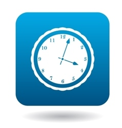 Round wall clock icon simple style vector image