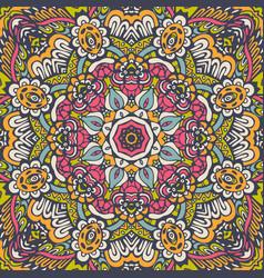 Seamless flower pattern geometric print vector