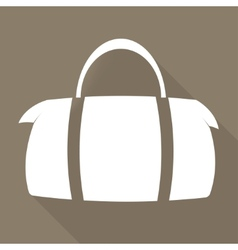Hipster modern bag icon vector