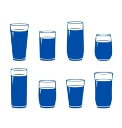 Water glass set vector