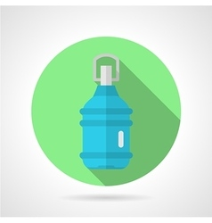 Bottled water flat round icon vector