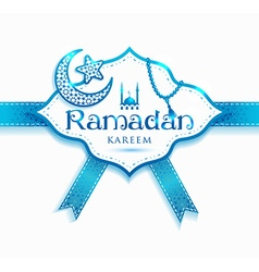 Ramadan kareem decoration frame islamic abstract vector