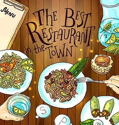Estaurant food vector