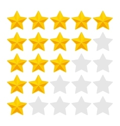 Five rating stars on white background vector