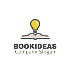 Book ideas design vector