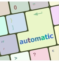 Automatic button on computer keyboard key vector