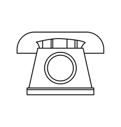 Telephone  over white vector